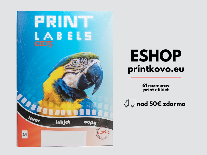 Print etikety emy dostupné na eshope www.printkovo.eu