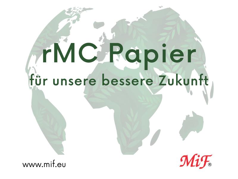 Die Verwendung von rMC-Recyclingpapier hilft der Erde bei der perfekten Qualität Ihrer Etiketten