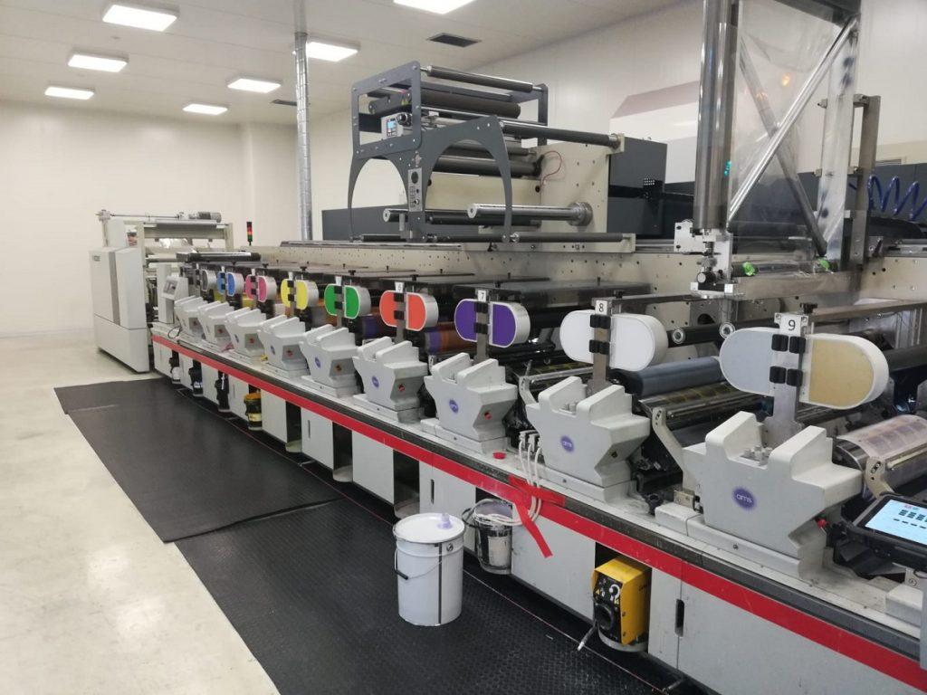 stroj na potlač materiálu